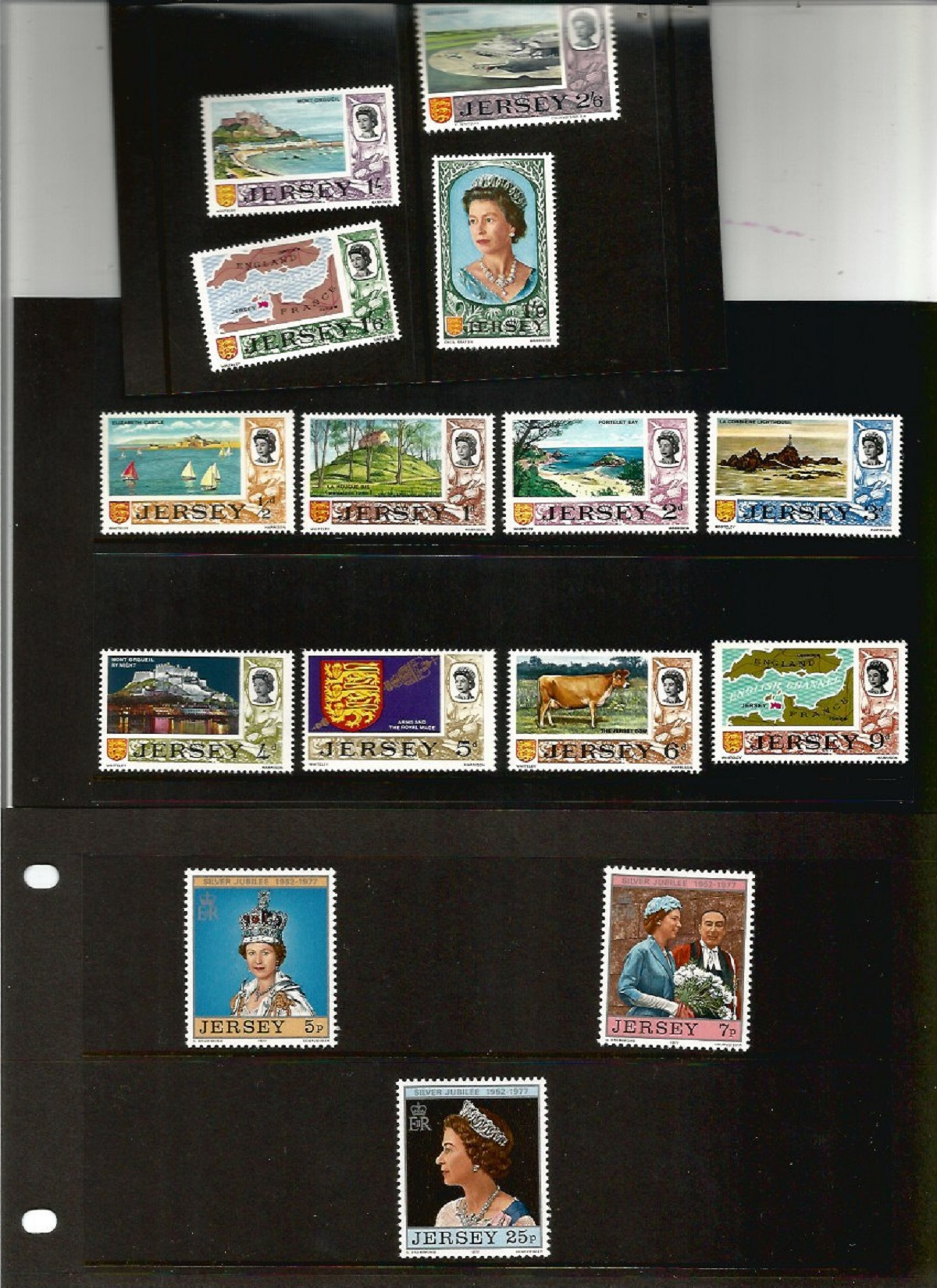 Jersey postal collection. Includes 2 presentation packs silver jubilee and 1st defs. 3 FDC's - - Image 2 of 3