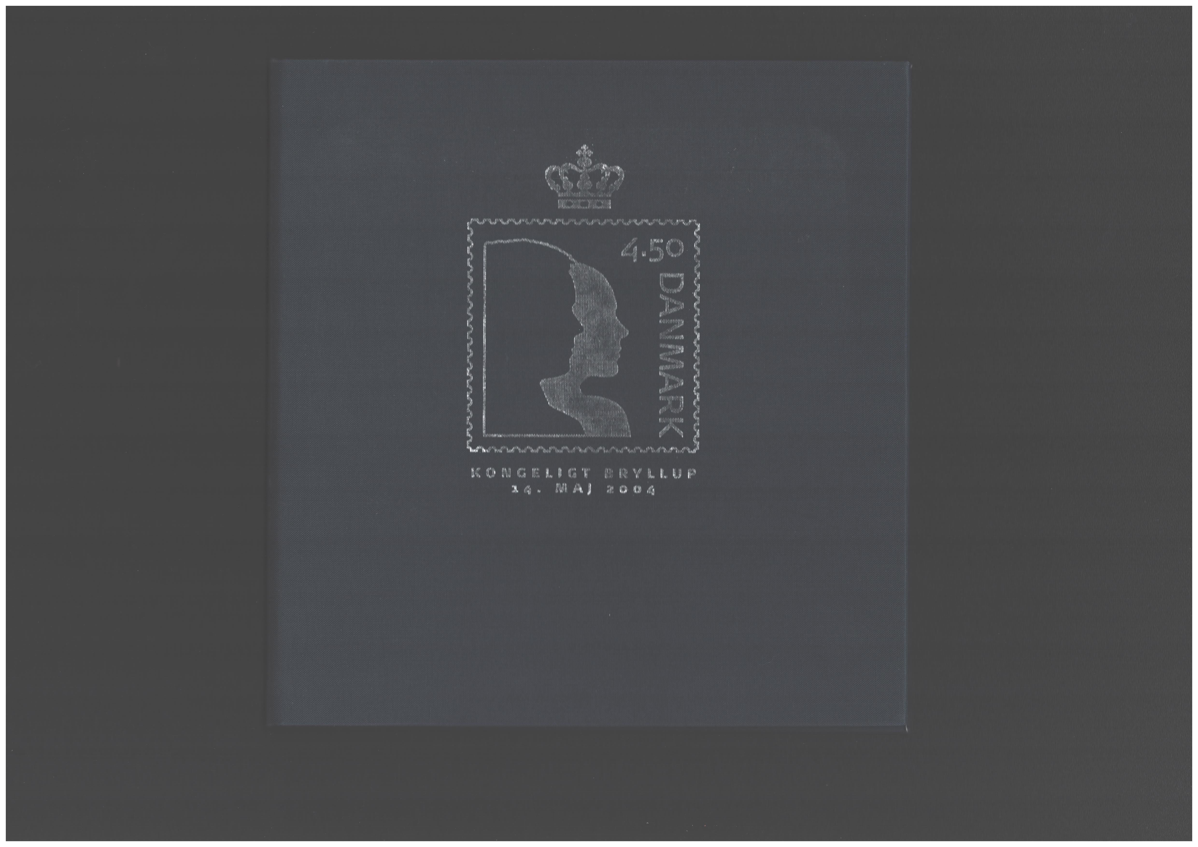 Danish 2004 Royal wedding stamps in folder. SGMS1384, SG1382 and SG1383. Good condition. We