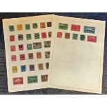 Canada stamp collection 2 loose album pages early material. Good condition. We combine postage on