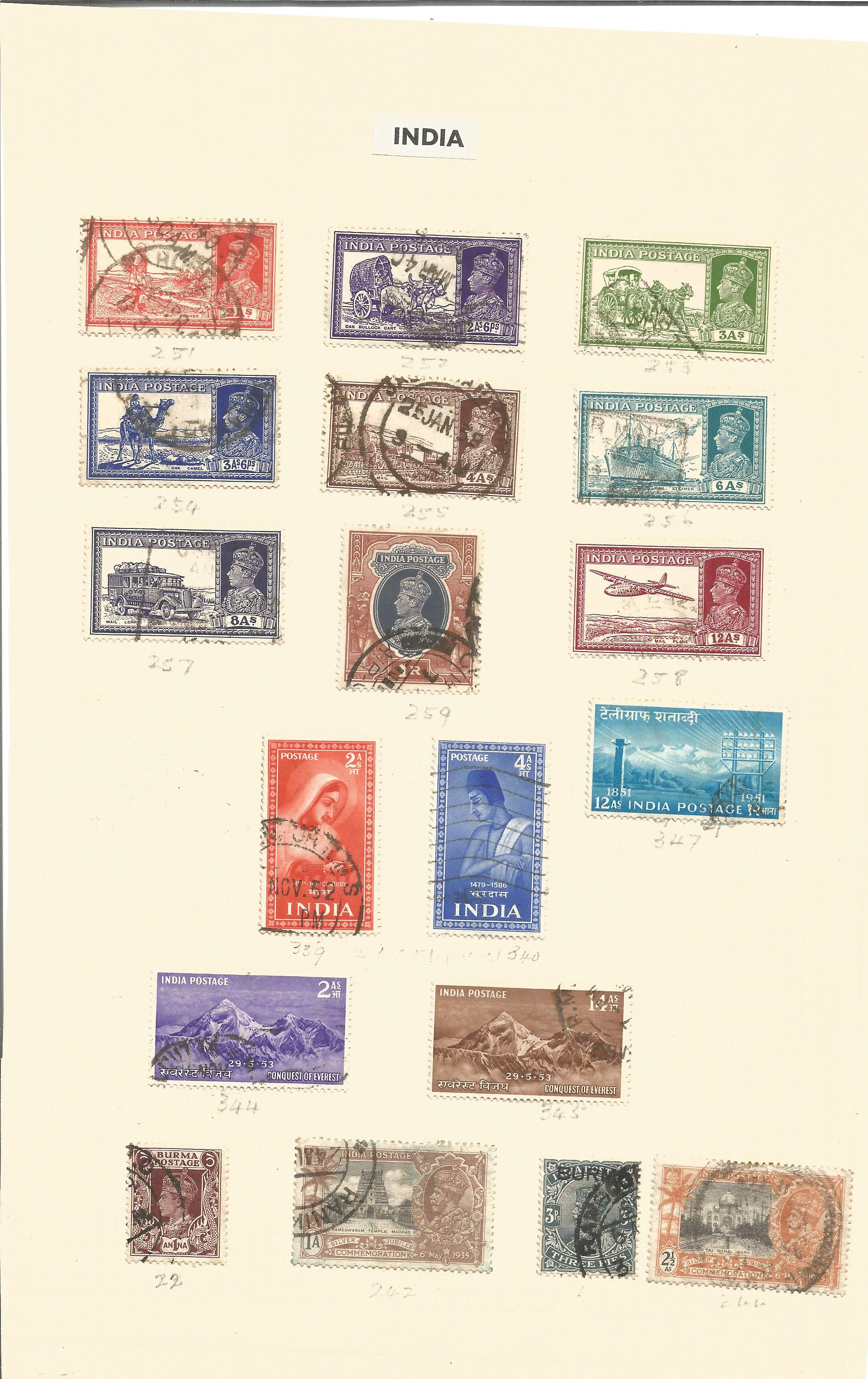 India stamp collection on 4 loose pages. Good condition. We combine postage on multiple winning lots - Image 2 of 2