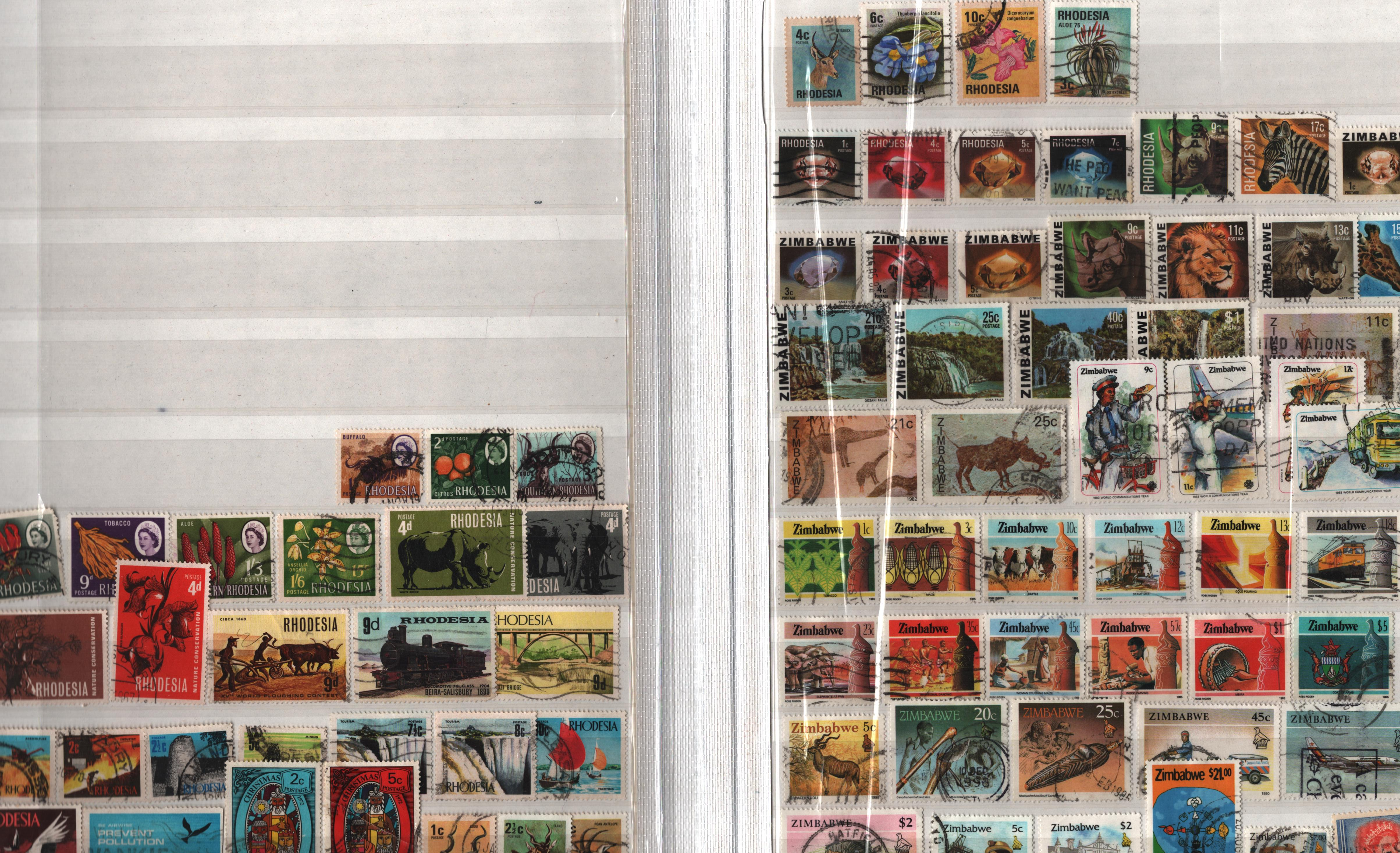 BCW stamp collection on 32 pages in stock book. Includes NZ, Nigeria, St Vincent, Zambia and many - Image 2 of 3