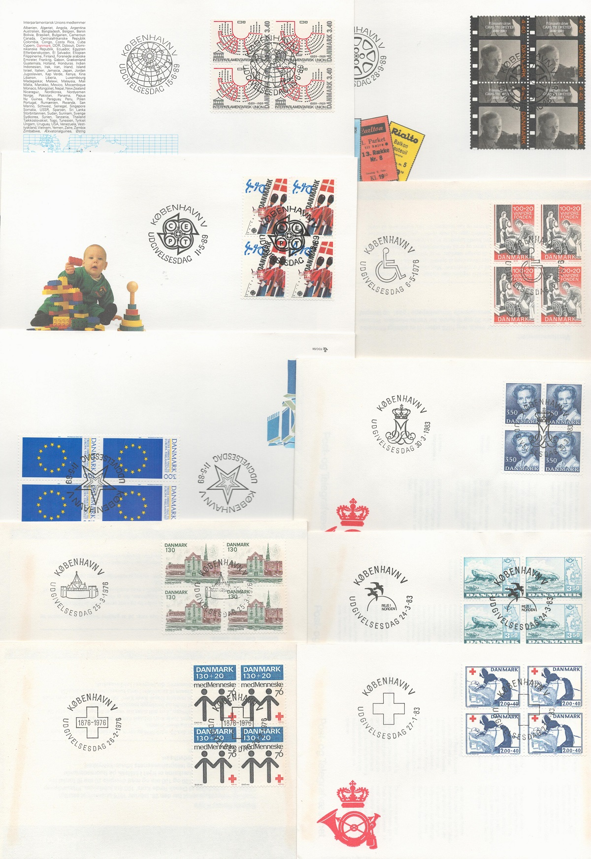 Danish FDC collection. 33 in total. 1976/1998. Good condition. We combine postage on multiple
