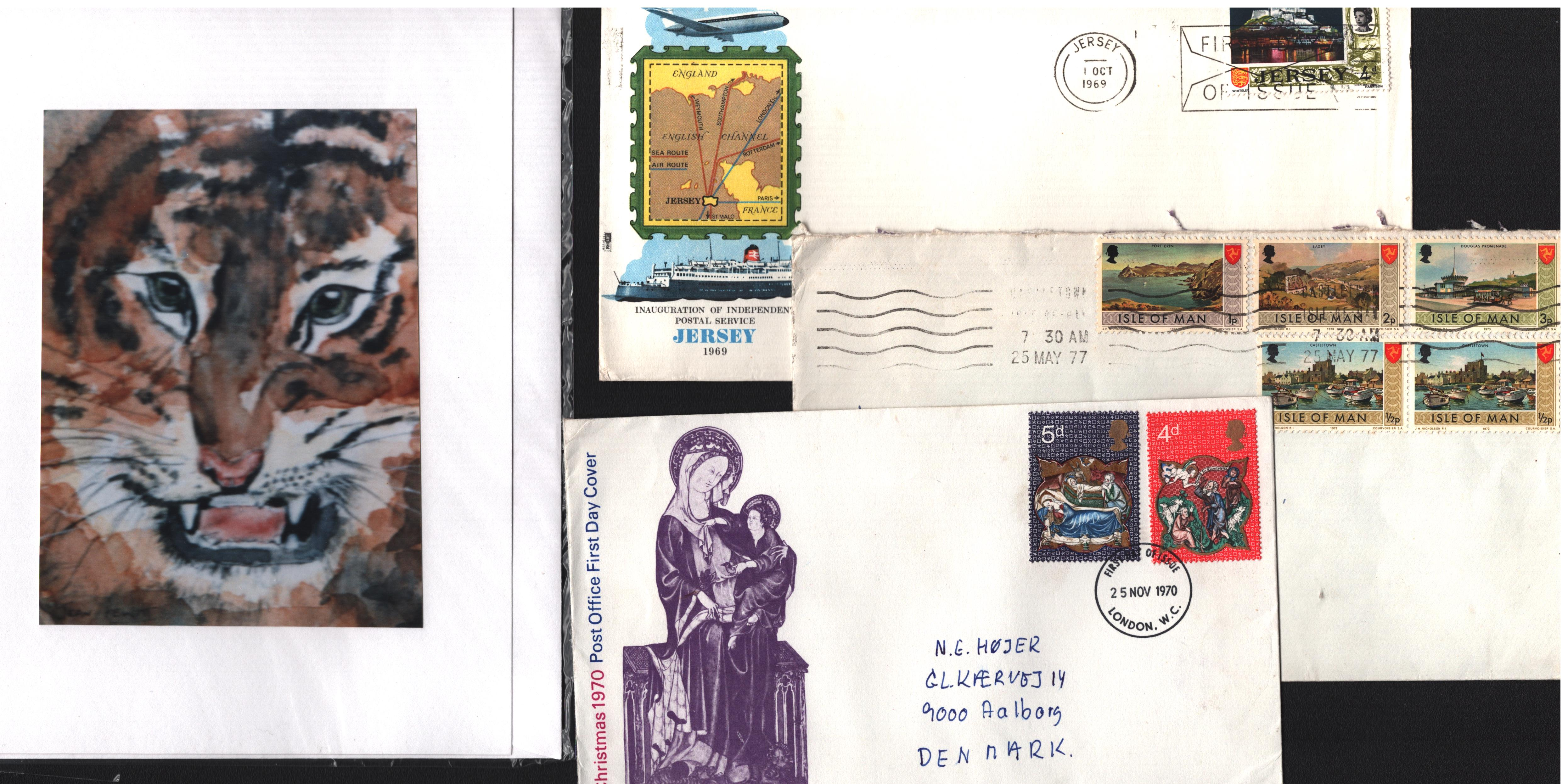 GB collection. Includes airletter and pre-printed envelope. Booklet 60th birthday 1986 QEII,