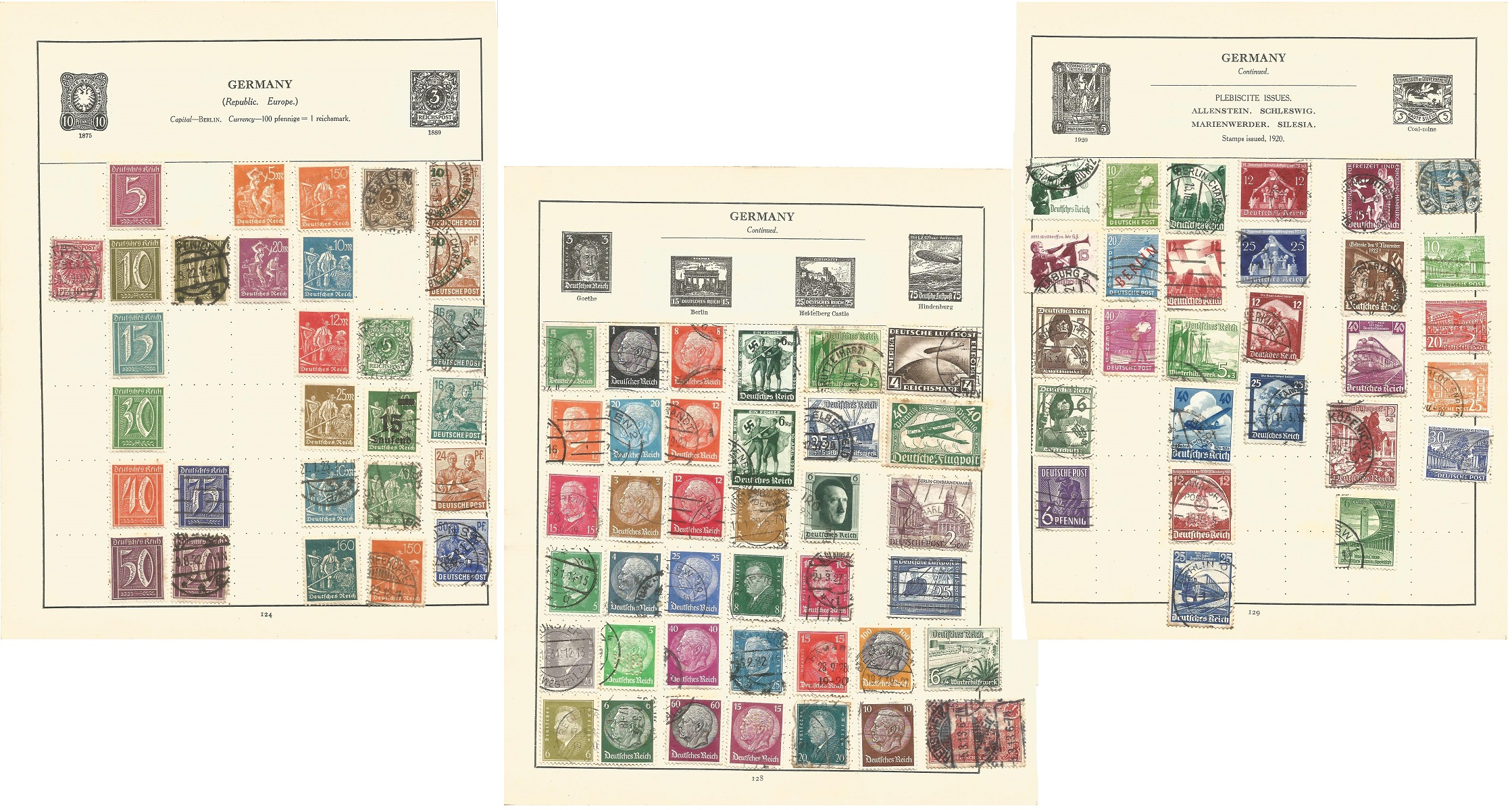 Germany and states stamp collection on 12 loose pages. Good condition. We combine postage on