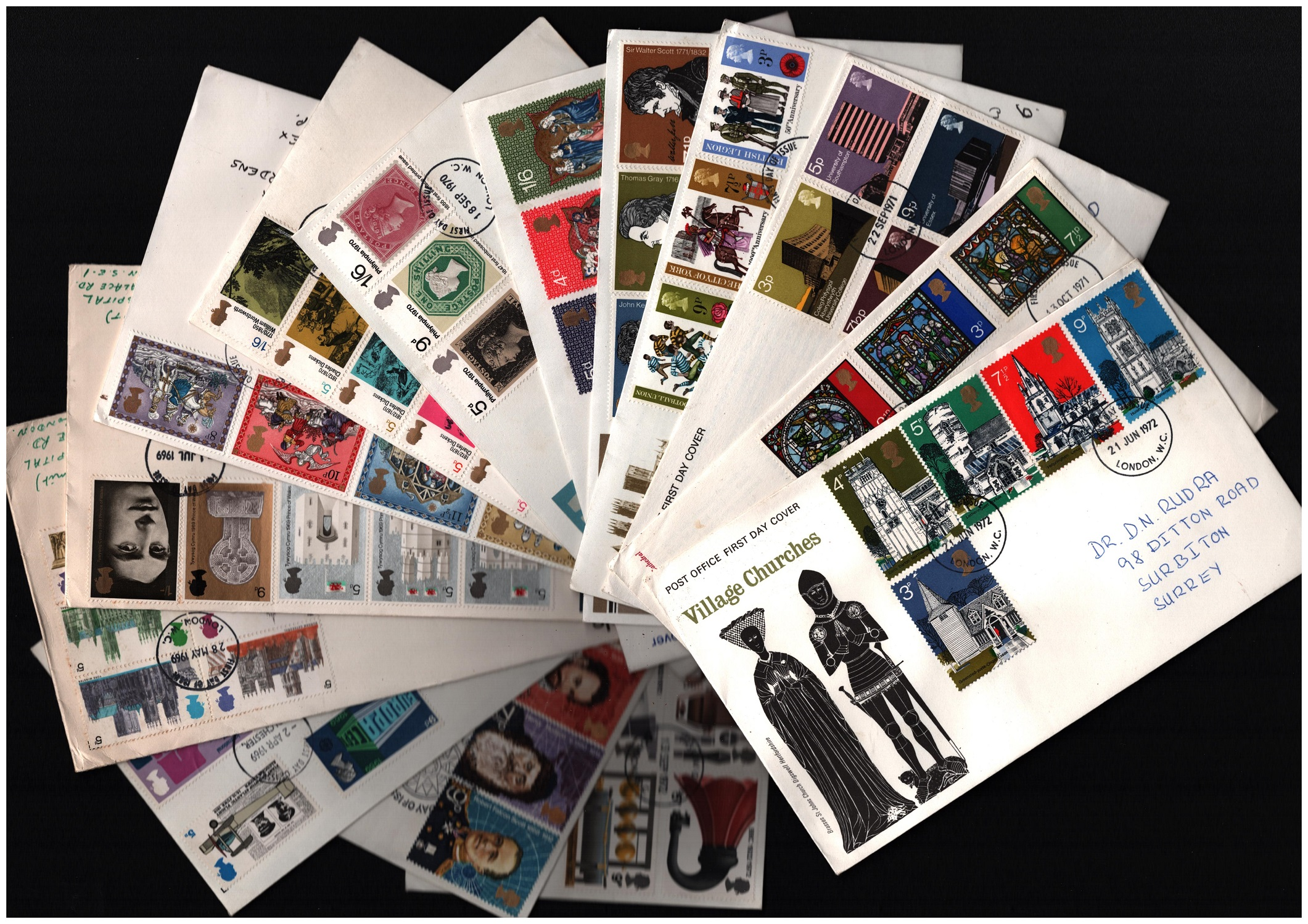 GB FDC collection. 36 included. 1969/1995. Good condition. We combine postage on multiple winning