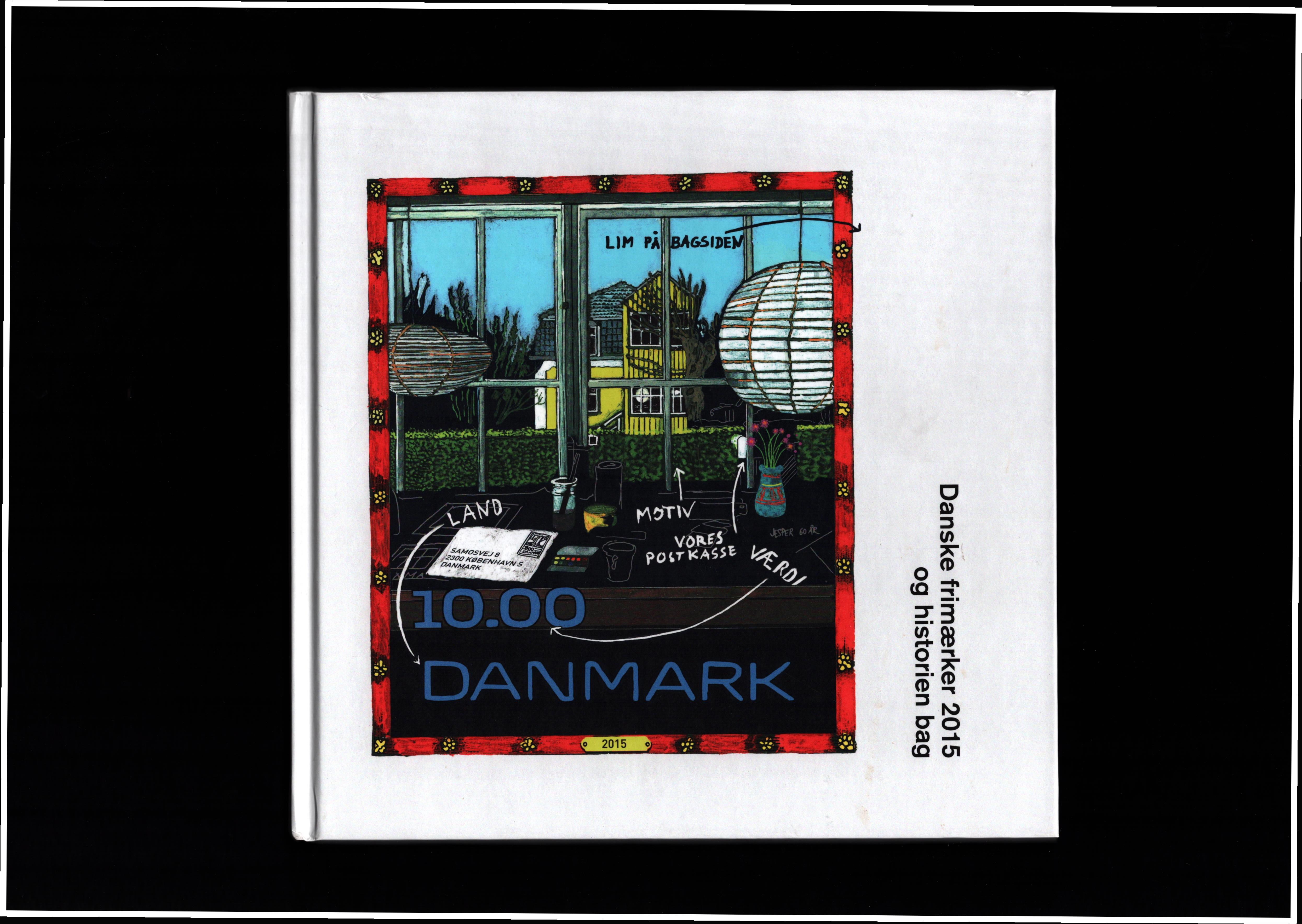 Danish 2015 stamp yearbook. Unmounted mint stamps. Good condition. We combine postage on multiple