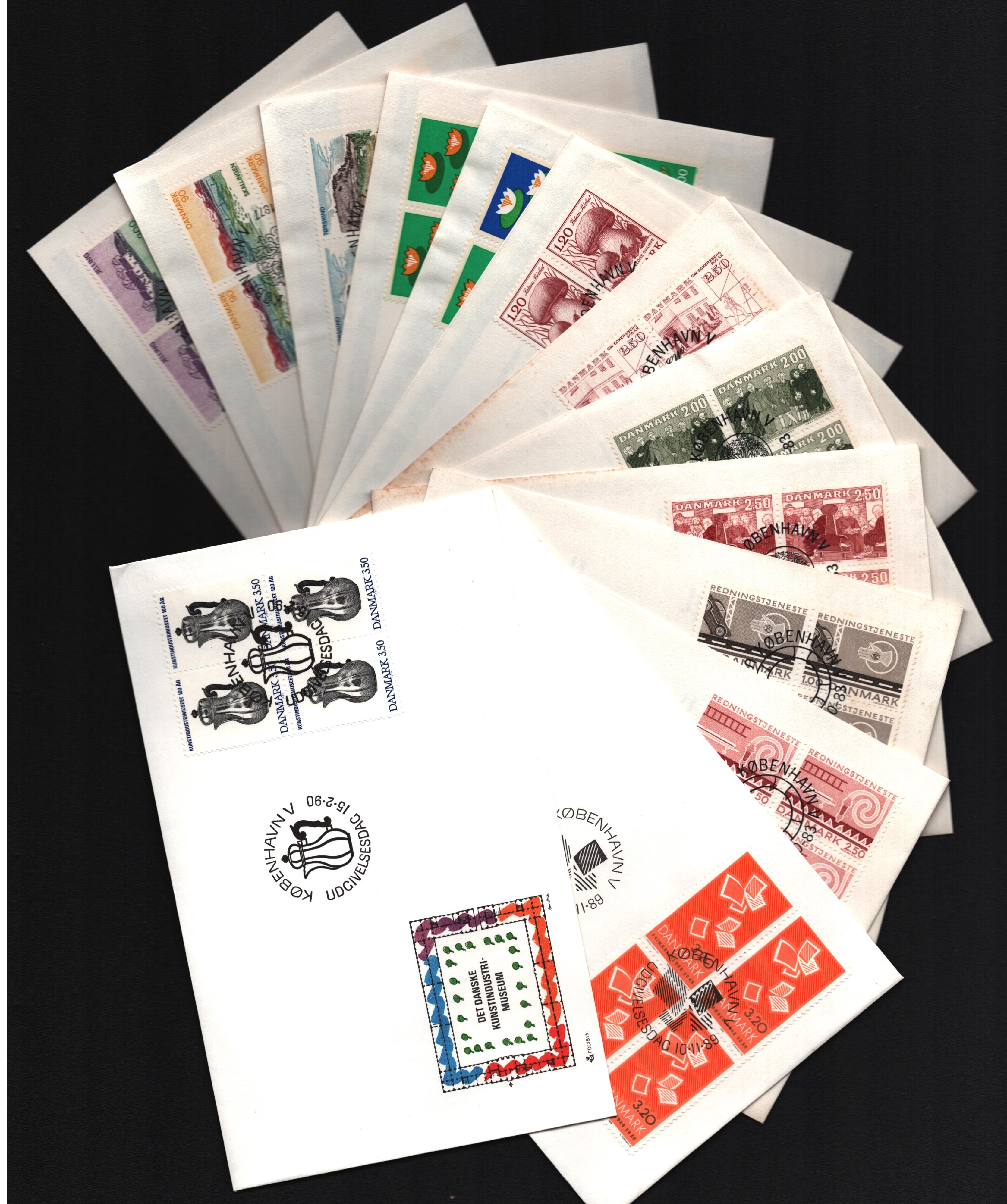 Danish FDC collection. 24 in total. 1977/1992. Good condition. We combine postage on multiple