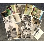 Vintage Postcard collection 17 items mainly black and white subjects include Transport, Places and