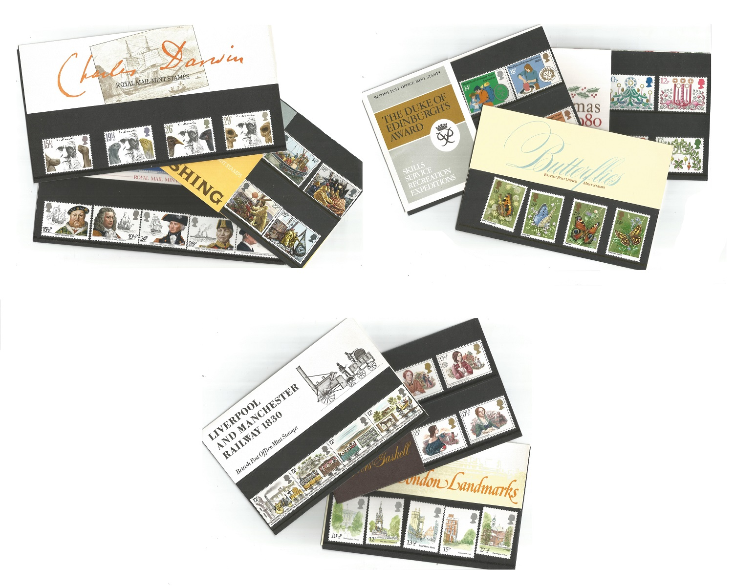 20 GB presentation packs 1976/1982. Good condition. We combine postage on multiple winning lots