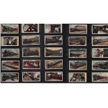 Famous railway trains cigarette card collection by WA and AC Churchman 1929. 25 cards. Good
