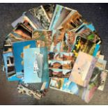 Vintage postcard collection includes 125 cards from around the world all franked dating 1950/1980
