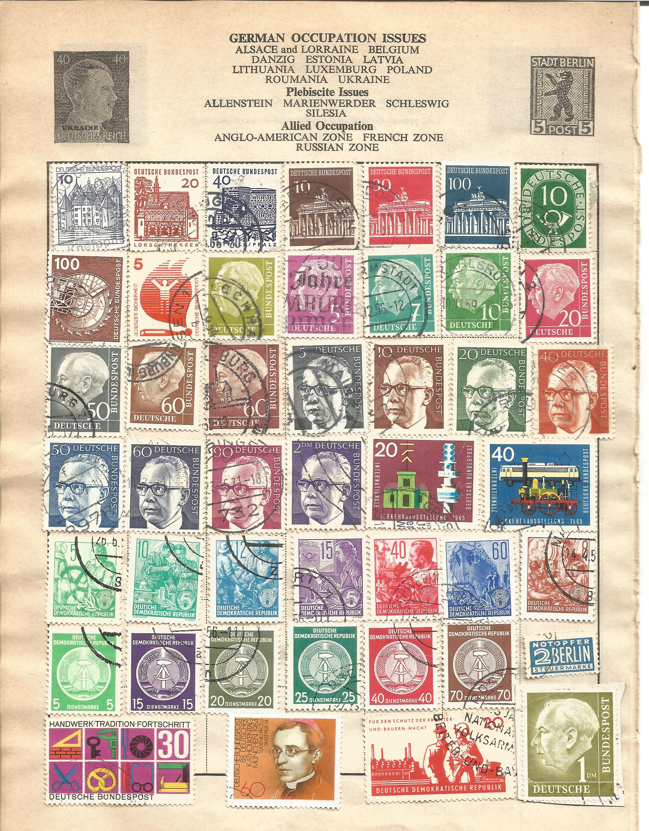 European stamp collection on 11 loose pages. Covers Germany and France and Colonies. Good condition. - Image 3 of 3