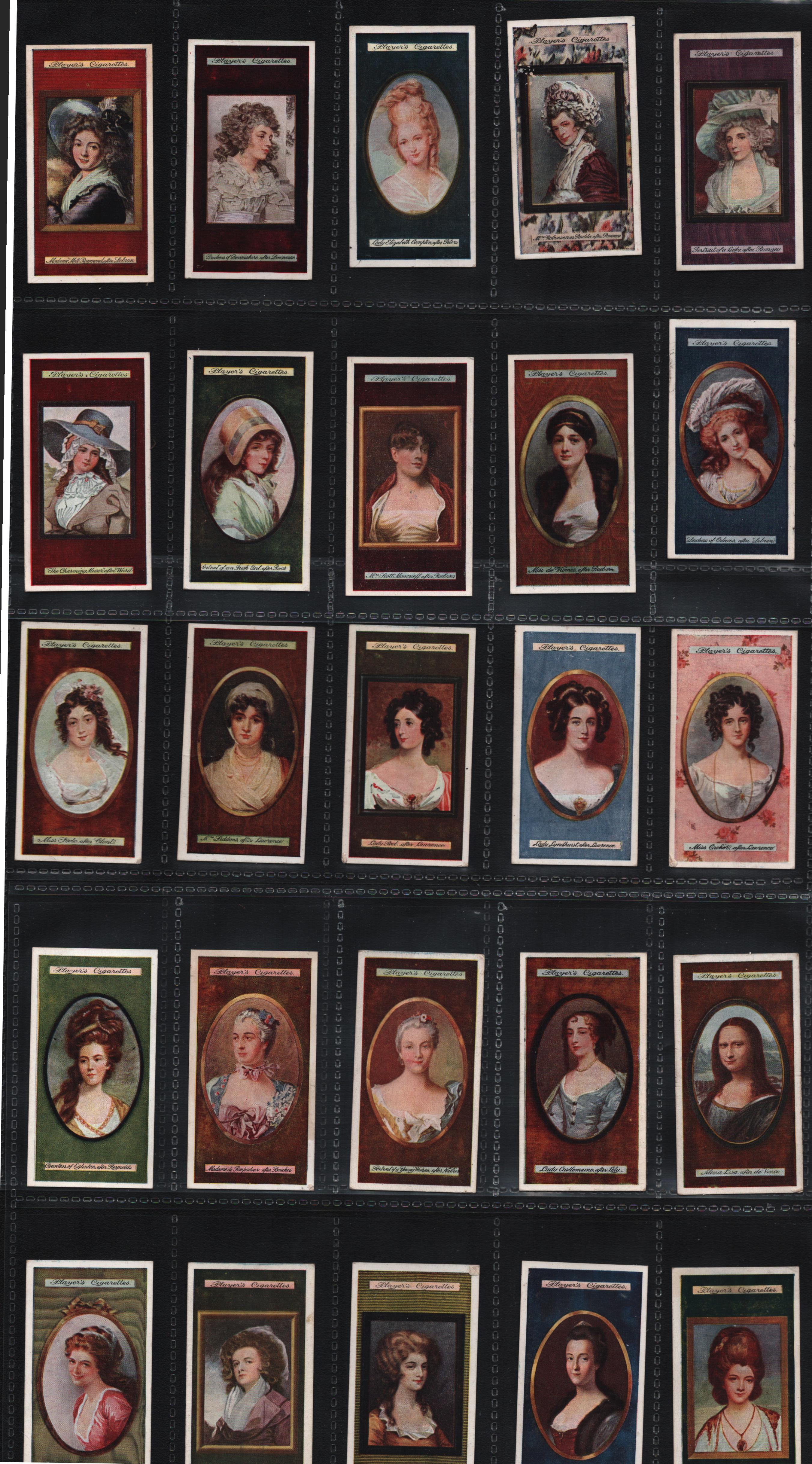 Cigarette card collection. Set of 25 of miniatures series by John player and sons. Good condition.