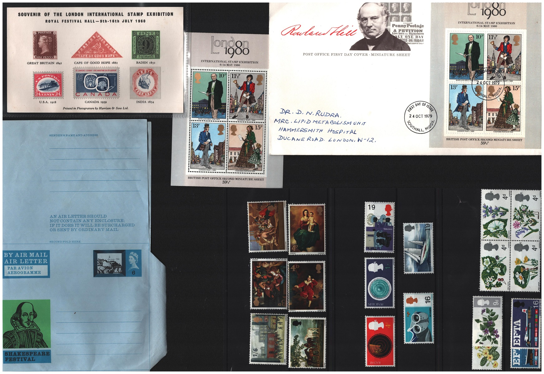 GB collection. Includes airletter and pre-printed envelope. Booklet 60th birthday 1986 QEII, - Image 2 of 2