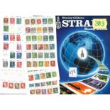 European stamp collection 7 pages of stamps countries include Denmark and France and an empty