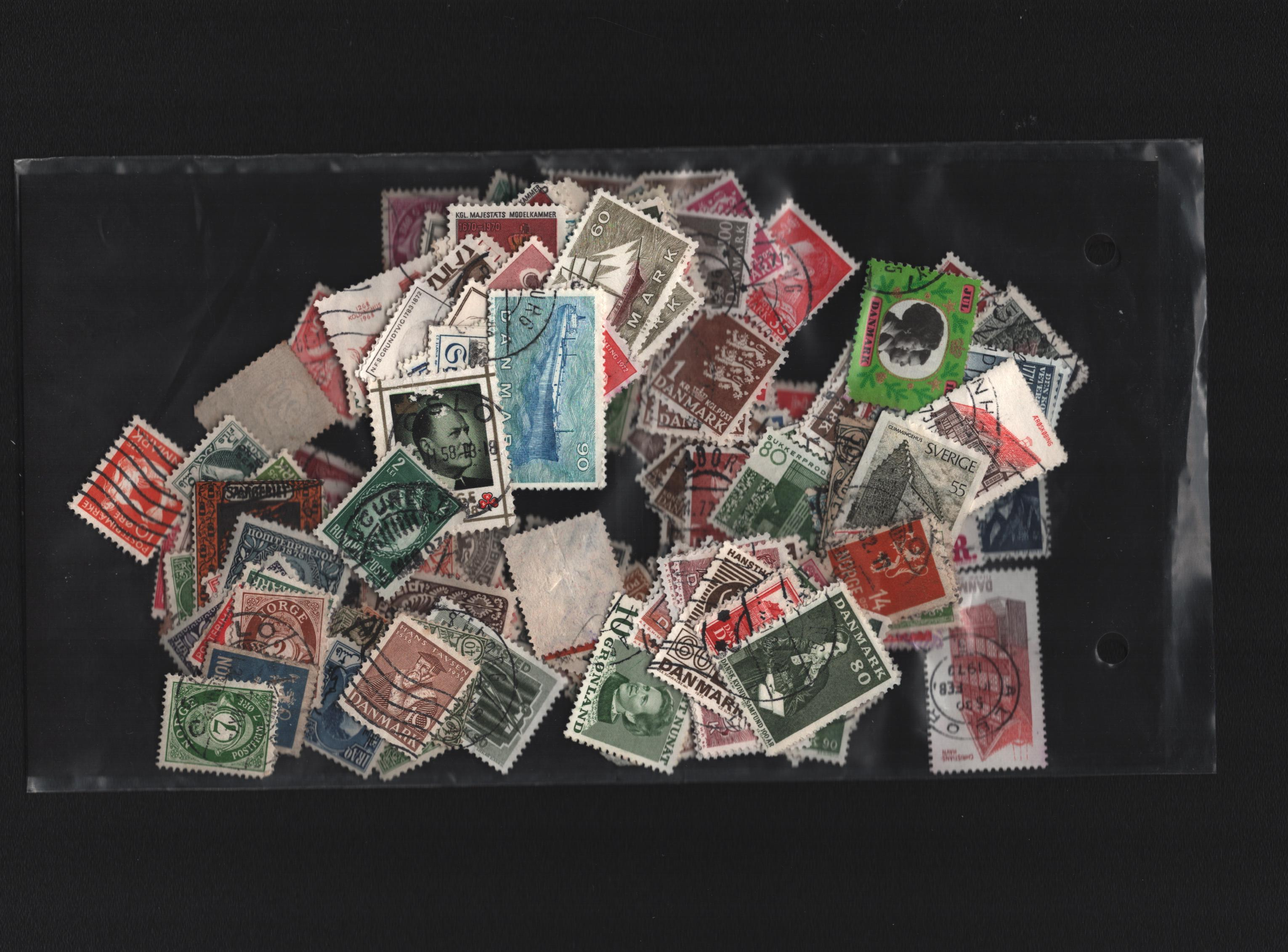 Assorted Scandinavian collection. Includes 3 pages of Danish charity labels 1916-1953 and approx. - Image 2 of 2