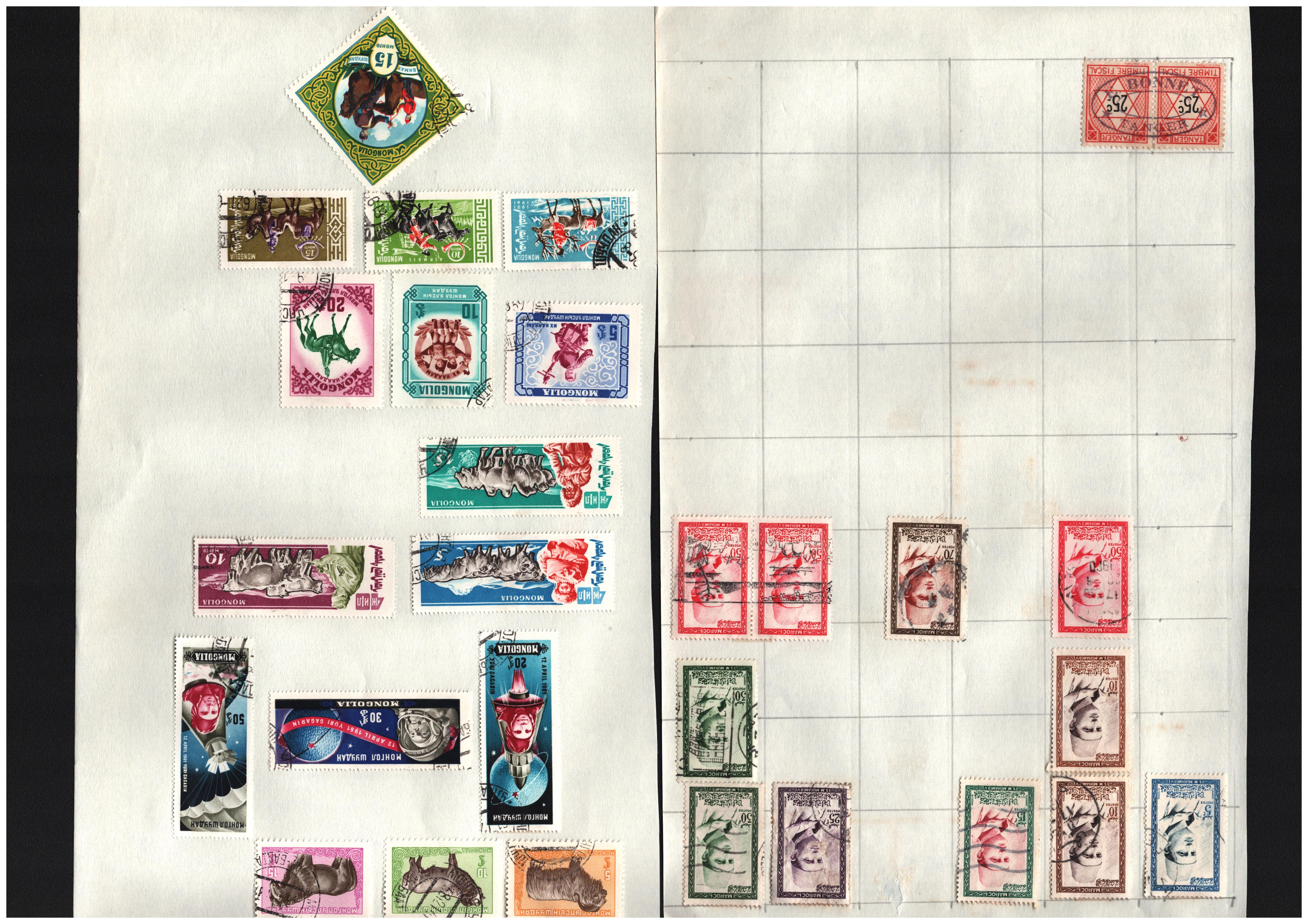 World stamp collection on 22 loose pages. Includes East Germany, Thailand, Morocco, United Nations - Image 2 of 2