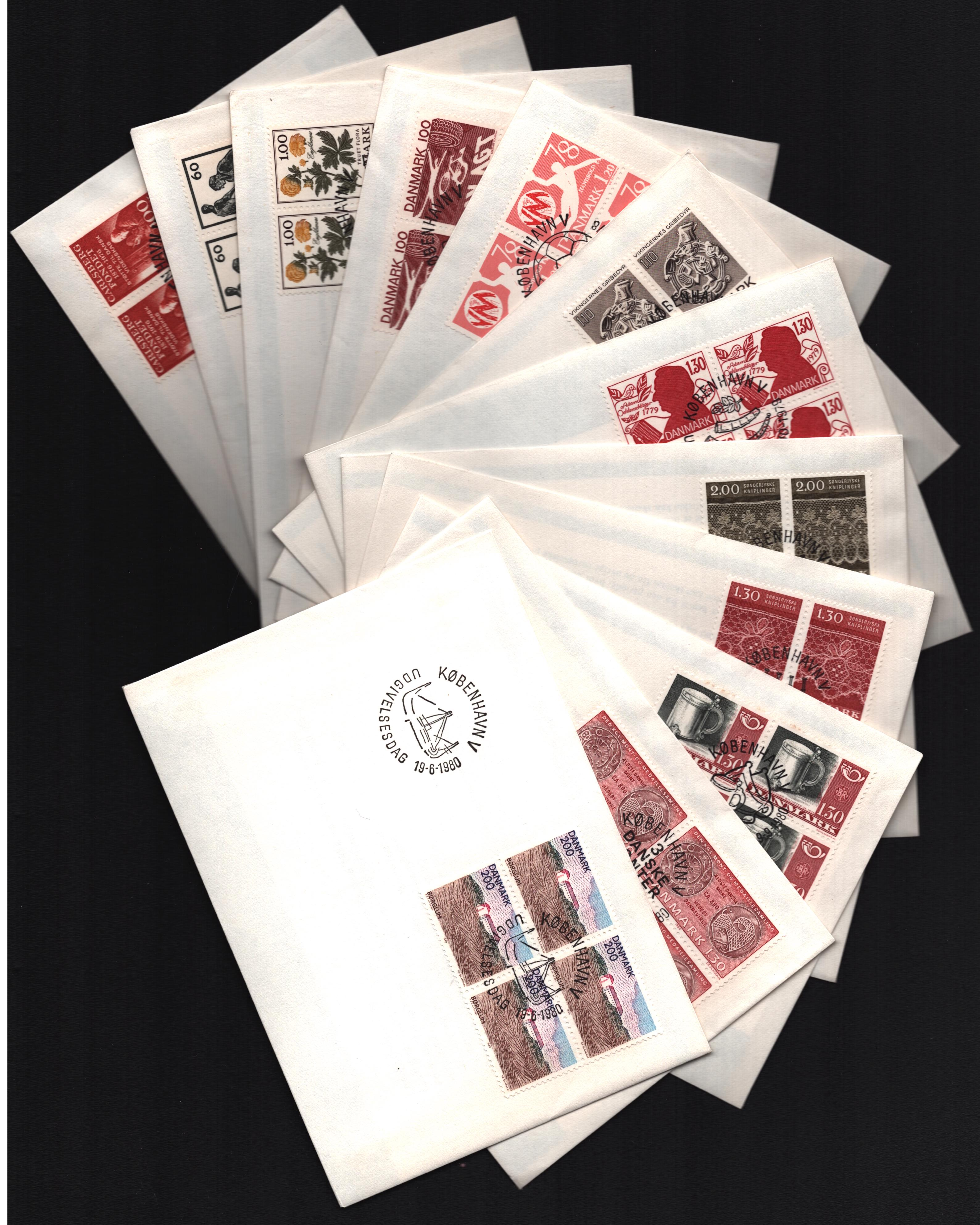 Danish FDC collection. 1976/1989. 42 covers. Good condition. We combine postage on multiple