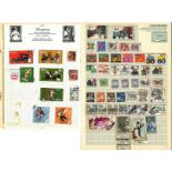 European stamp collection 18 loose album pages countries include Czechoslovakia, Hungary, Poland,