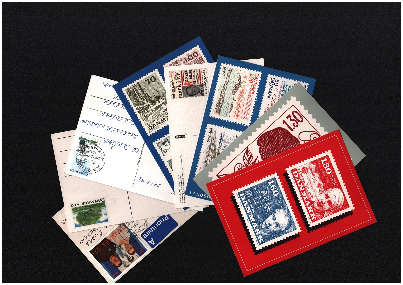 Assorted collection. Includes 11 postcards from Denmark mint, 2 postcards Denmark franked. 4 Red - Image 2 of 2