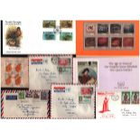 Assorted BCW collection. Includes booklet life and times Queen mother, with 5 stamps. 8 mint