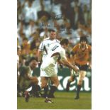 Johnny Wilkinson signed 12x8 colour photo pictured scoring the winning drop goal for England against