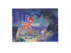 Donnie Dunagan signed 14x11 colour Walt Disney Bambi print titled I'm Thumpin That's Why They Call