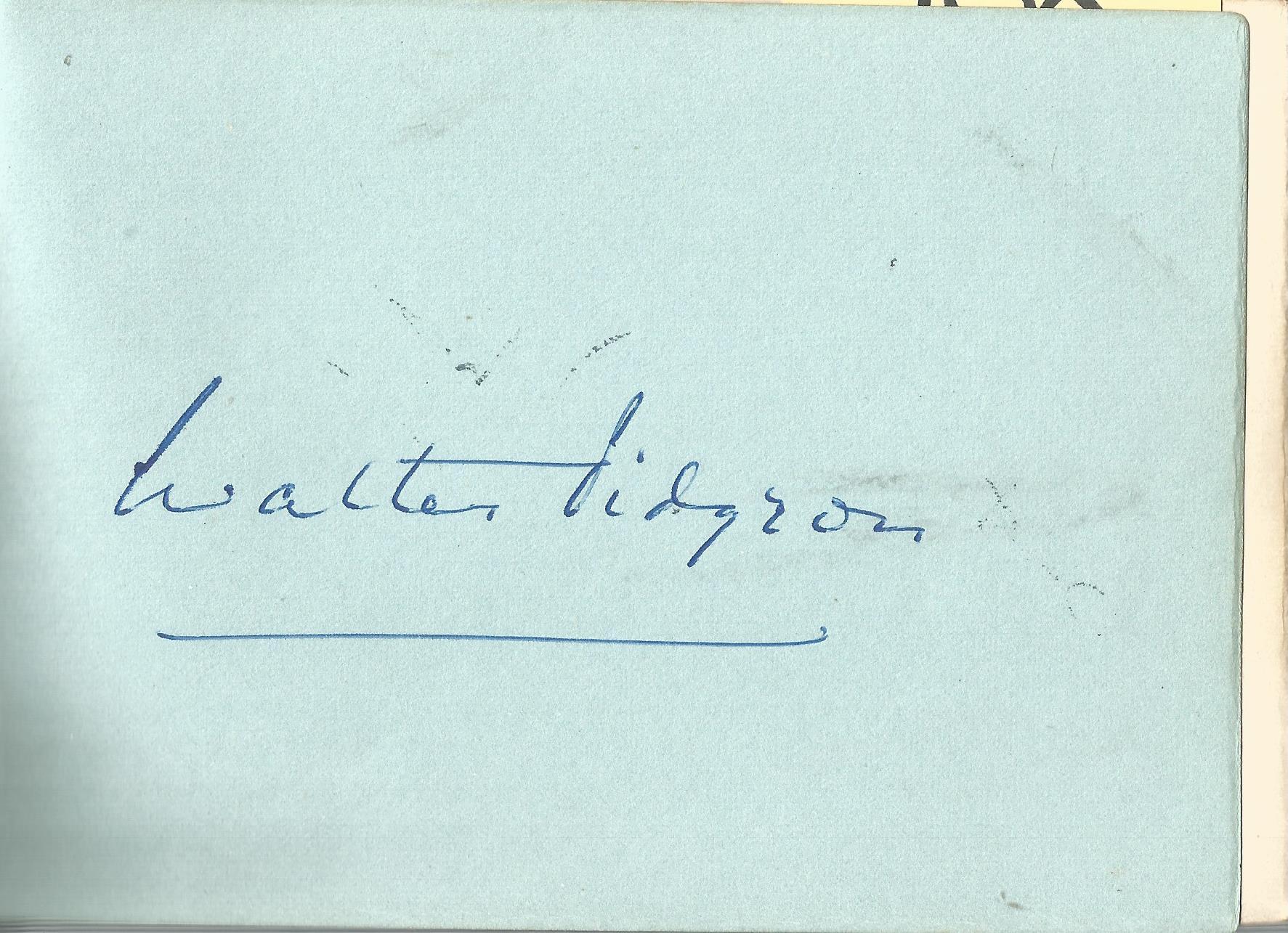 Walter Pigeon signed 6x4 album page. Walter Davis Pidgeon (September 23, 1897 - September 25,