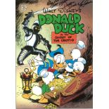 Tony Anselmo signed 14x11 colour print entitled Donald Duck in the Ghost of the Grotto inscribed