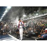 Lewis Hamilton signed 16x12 colour photo fantastic photo of the Seven times world Formula One
