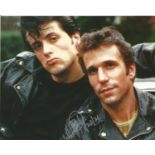 Henry Winkler signed 10x8 colour photo rare image pictured with Sylvester Stallone. Henry Franklin