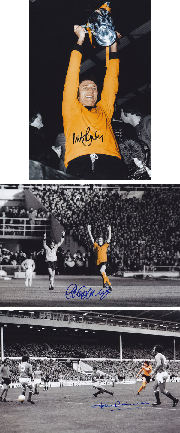Autographed Wolves 1974 12 X 8 Photos - Lot Of 3 Signed 12 X 8 Photos Depicting Wolves Goals In