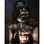 Dave Prowse signed 14x11 Star Wars colour montage photo inscribed Dave Prowse is Darth Vader.