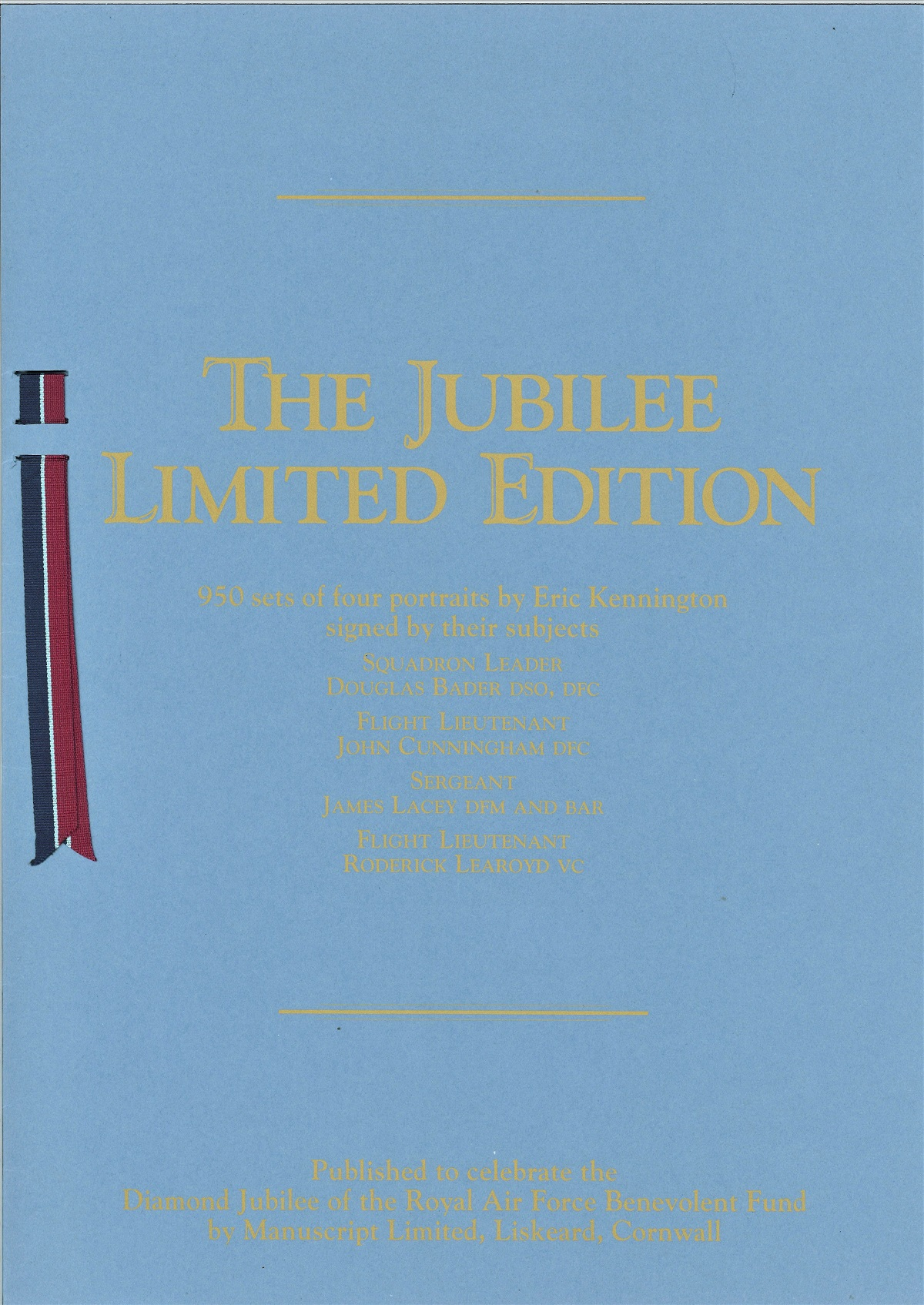 Rare WW2 signed prints The RAF Jubilee Limited Edition. This portfolio of prints was produced in