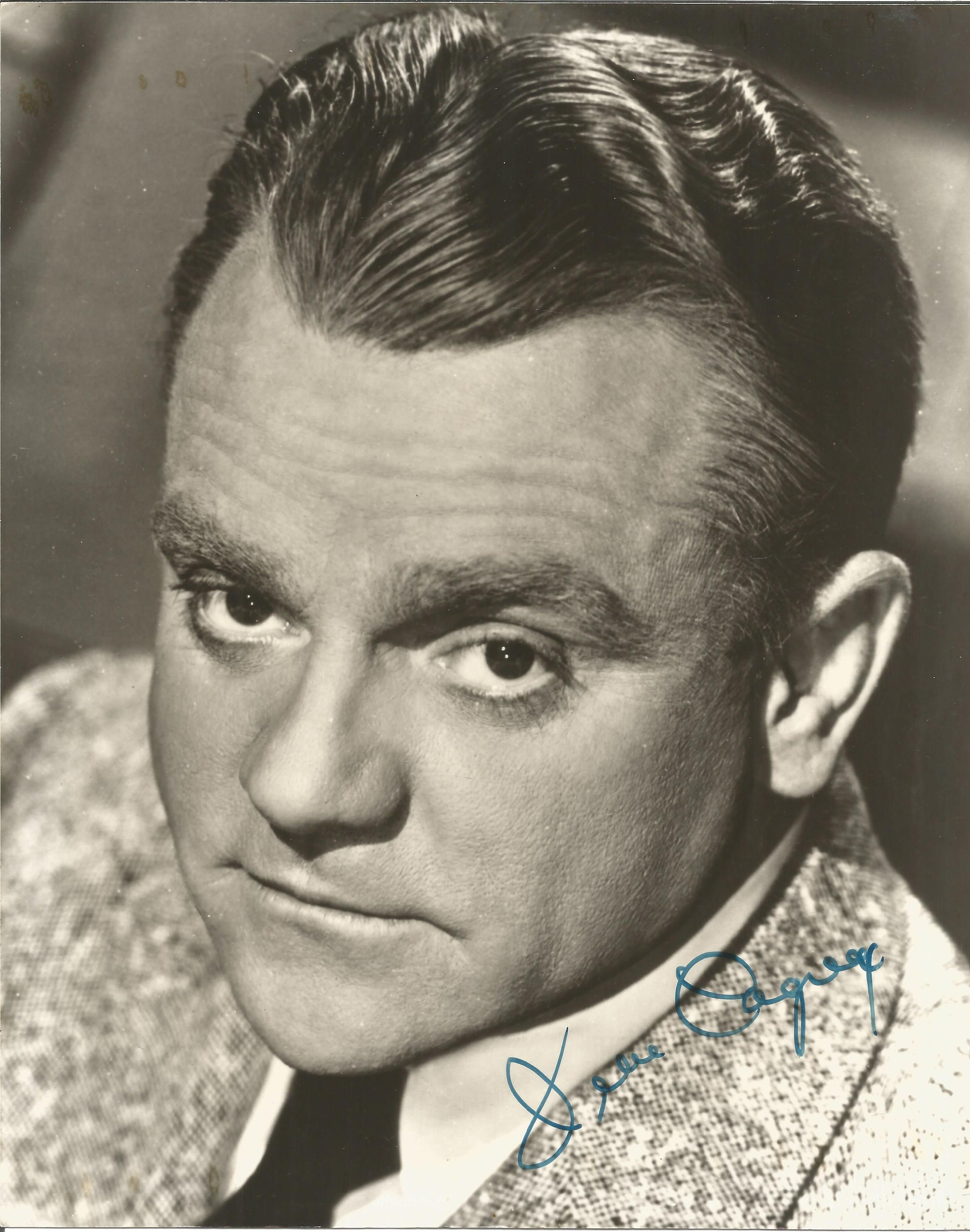 James Cagney signed 10x8 black and white photo. James Francis Cagney Jr. (] July 17, 1899 - March