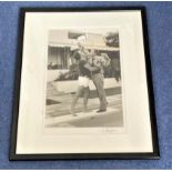 Peter Sellers and Lord Snowdon 21x17 mounted and framed original black and white photo signed by the