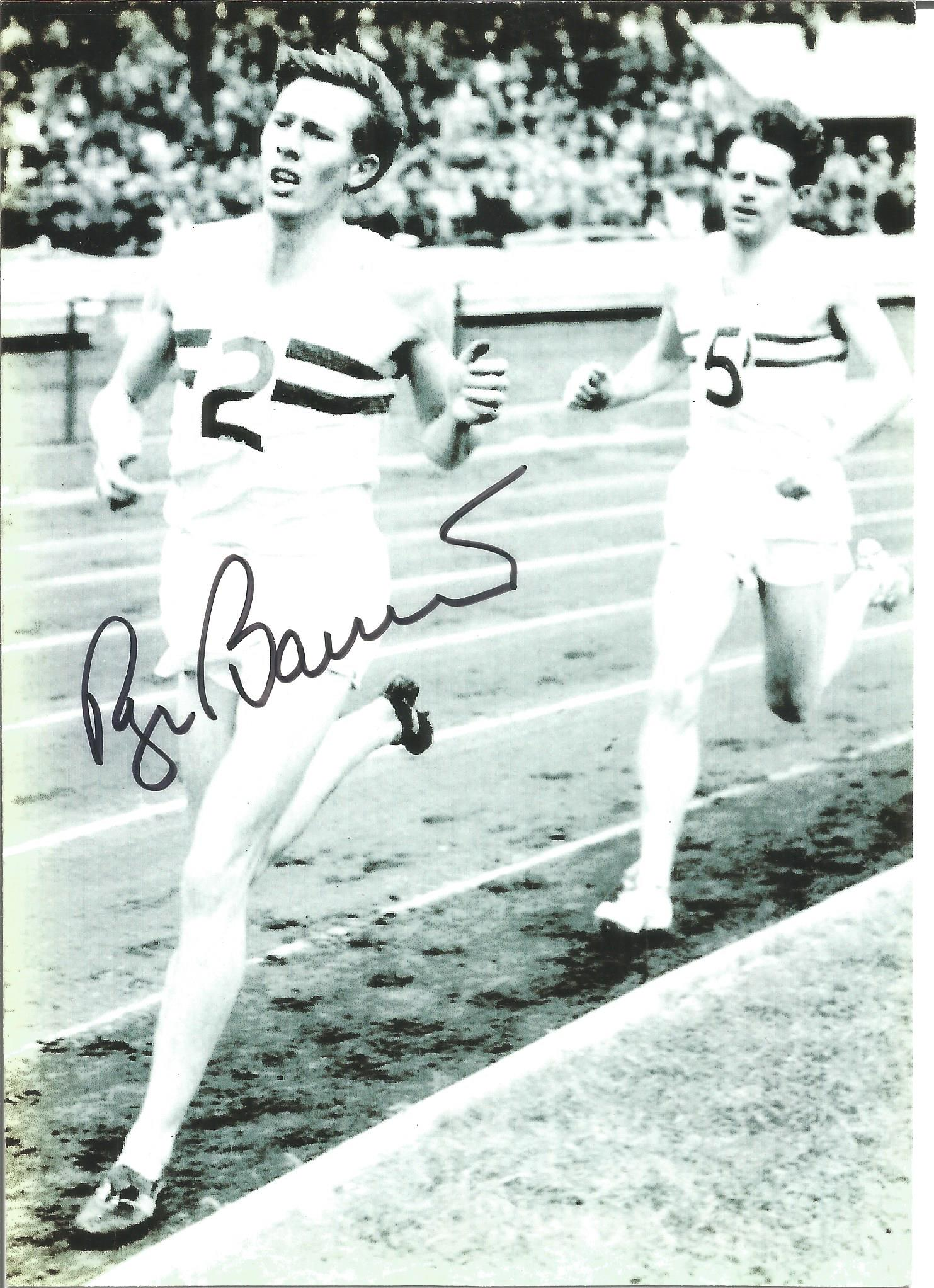 Roger Bannister signed 7x5 black and white photo. Sir Roger Gilbert Bannister CH CBE FRCP (23