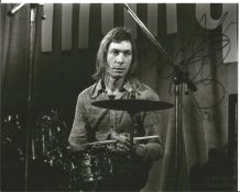Charlie Watts signed 10x8 black and white photo. Charles Robert Watts (born 2 June 1941) is an