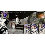 Space Apollo 17 Gene Cernan signed 30th ann FDC. Good condition. All autographs come with a