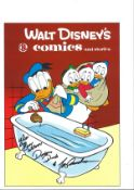 Tony Anselmo signed 13x9 Walt Disney comics and stories Donald Duck animated picture inscribed