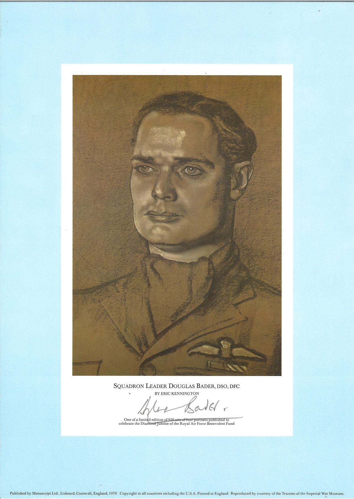 Rare WW2 signed prints The RAF Jubilee Limited Edition. This portfolio of prints was produced in - Image 3 of 5