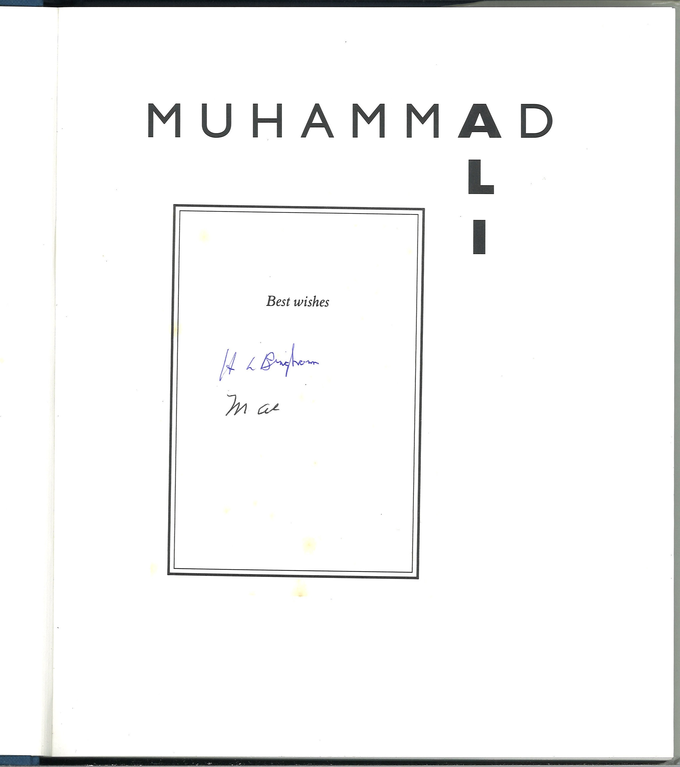 Muhammed Ali signed hardback book titled A Thirty Year Journey signed inside on a affixed - Image 2 of 2