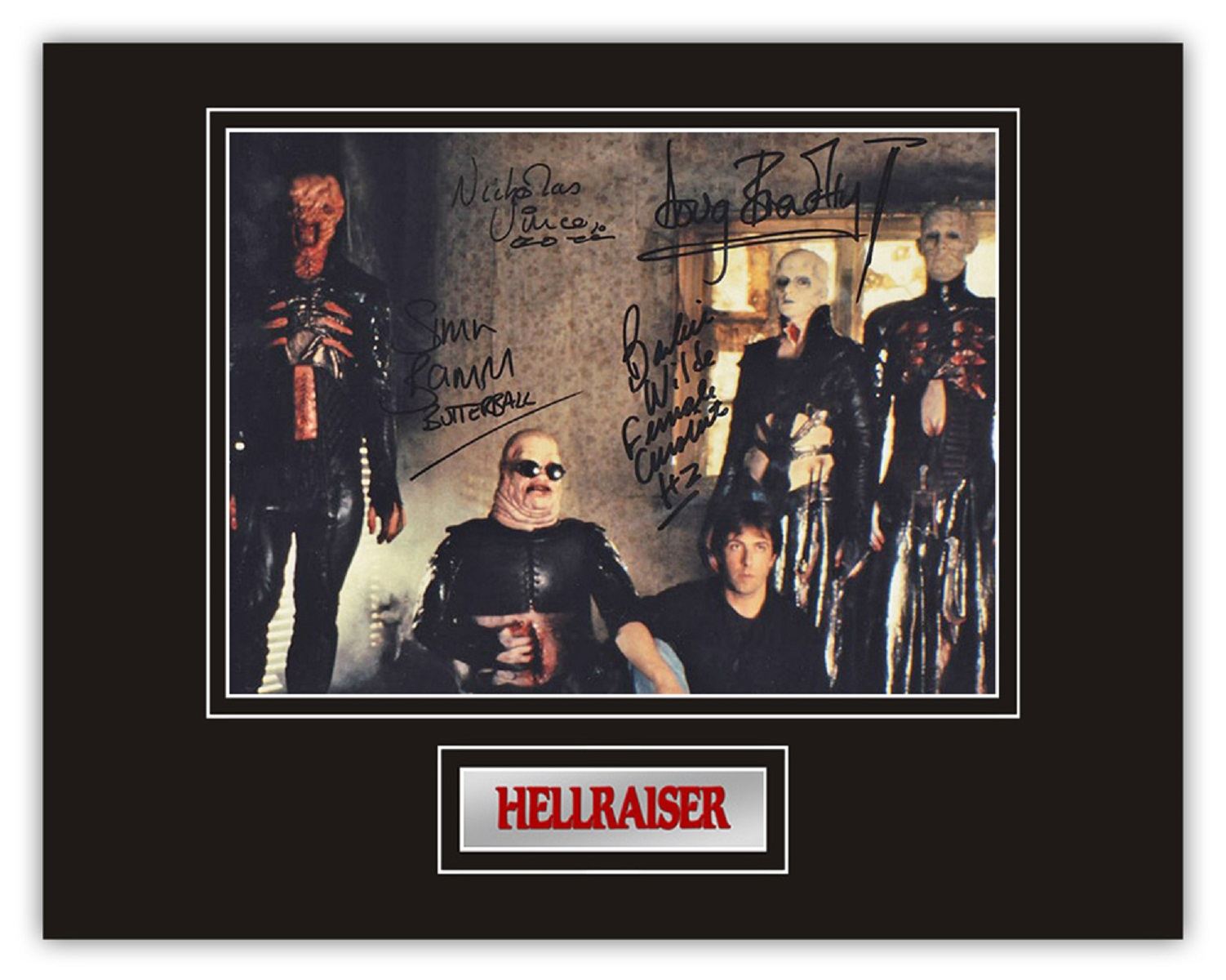 Set of 3 Stunning hand signed Hellraiser professionally mounted displays! This beautiful set of 3 - Image 3 of 4