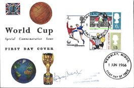 Bobby Moore signed World Cup Special Commemorative Issue FDC Double PM Wembley Middlesex 1 Jun 1966.