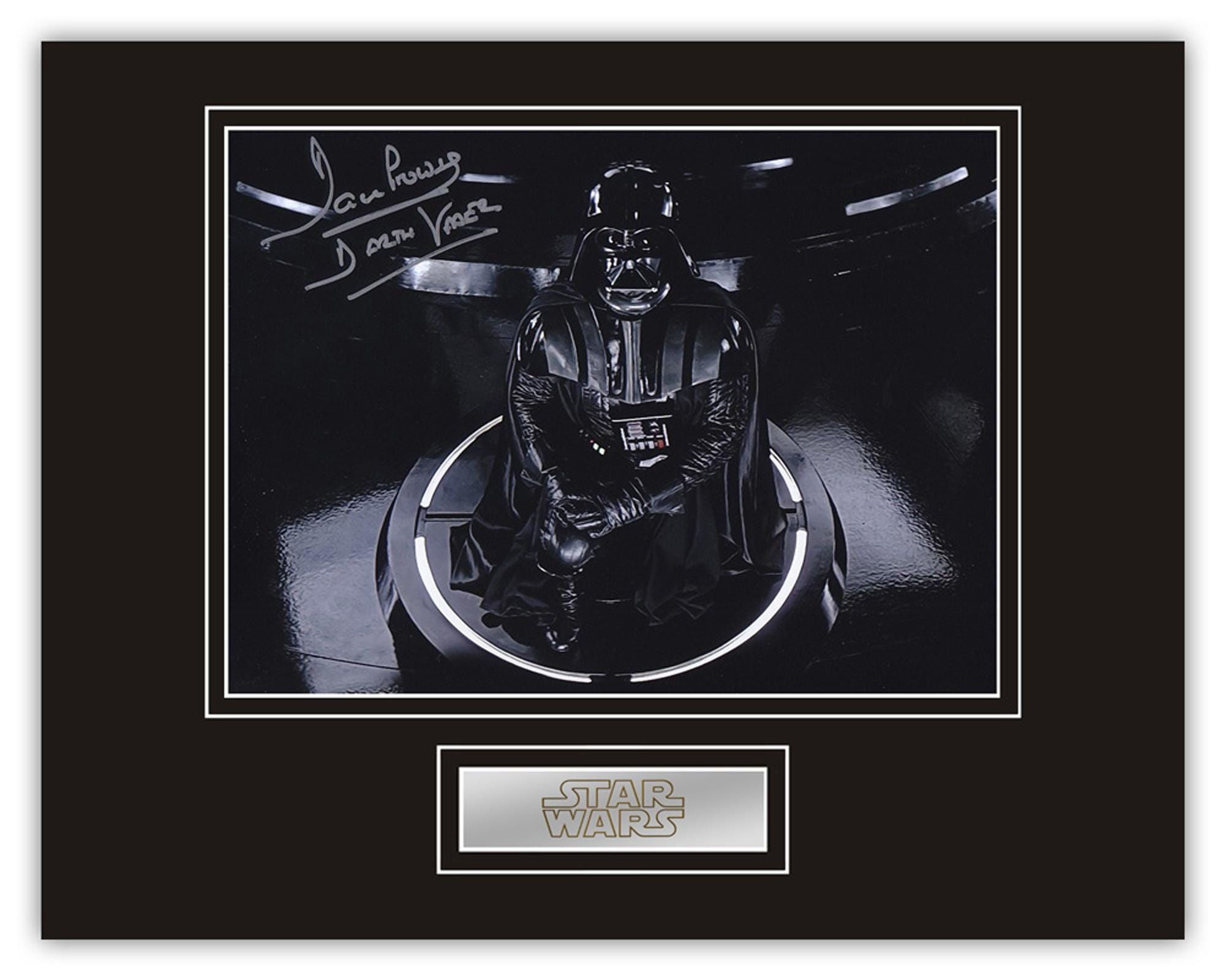 Star Wars Dave Prowse hand signed professionally mounted display. Stunning Display. Rare Image. This