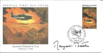 Margaret Thatcher signed Official FDC Japanese Defeated at Truk February 17 1944 PM Republic of