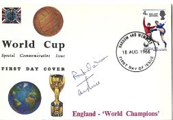 Terry Paine signed 1966 World Cup Special Commemorative cover PM Harrow and Wembley 18 Aug 1966.