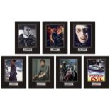 Set of 7 Stunning hand signed horror professionally mounted displays! This beautiful set of 7