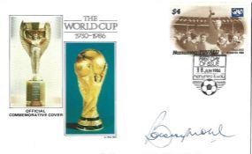 Bobby Moore signed World Commemorative Cover 1930-1986 PM Nanumea Tuvalu 30 June 1986. Good