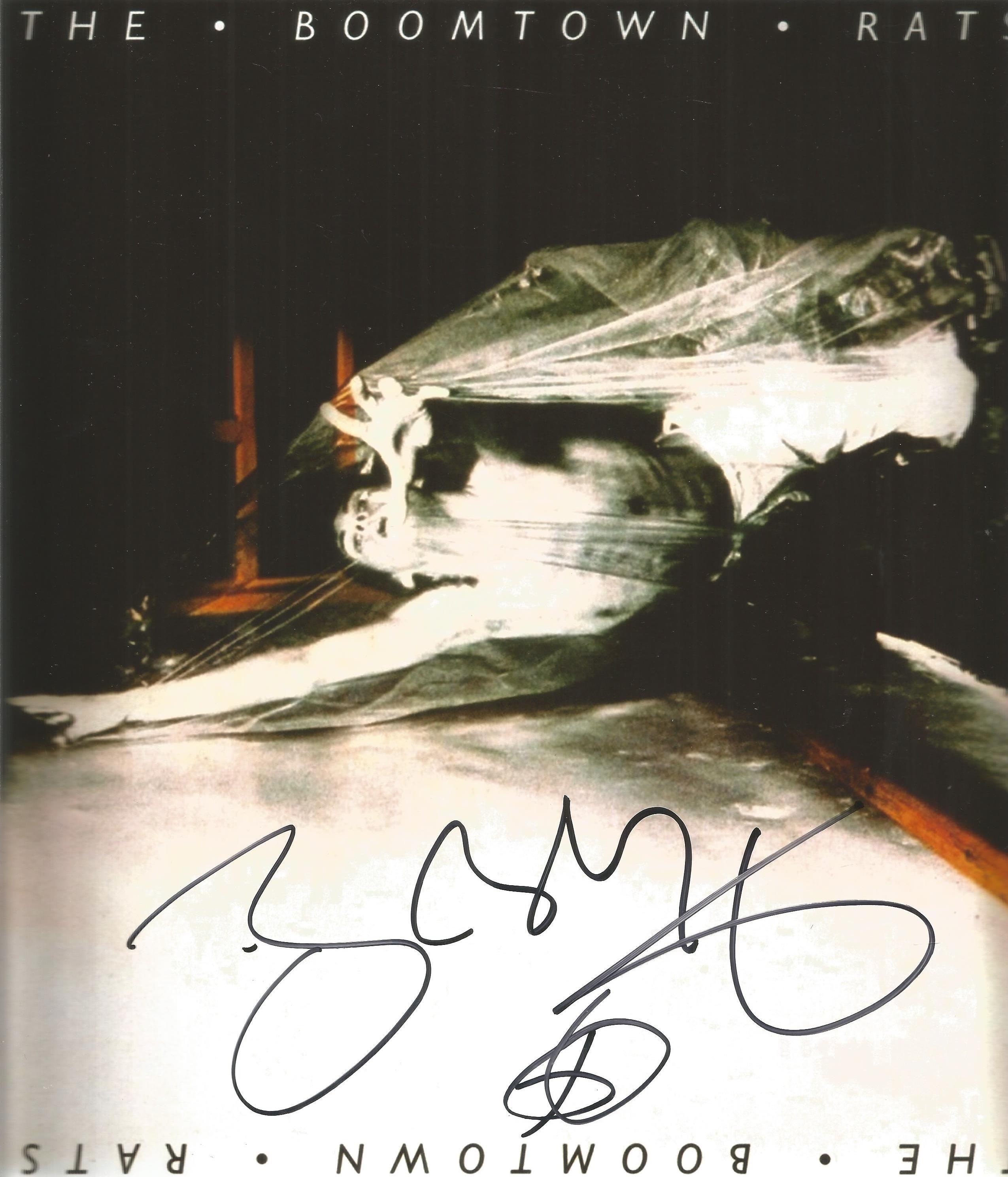 Bob Geldof signed 10x10 Boomtown Rats colour promo photo. Robert Frederick Zenon Geldof born 5